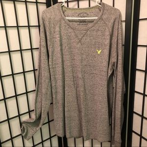 American Eagle Men's XXL grey thermal shirt